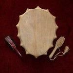 Small Oval Drum - natural, metal-curl-handle - front